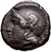 Drachm (Elaia) – avers