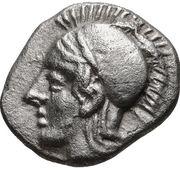 Diobol (Elaia) – avers