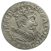 Trojak (3 groschen) Sigismund III Vasa (nominally Gustavs Adolphus II) – avers