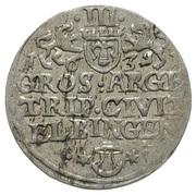 Trojak (3 groschen) Sigismund III Vasa (nominally Gustavs Adolphus II) – revers