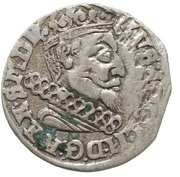 Trojak / 3 Grosze - Gustaw II Adolf (Swedish Occupation) – avers