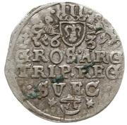 Trojak / 3 Grosze - Gustaw II Adolf (Swedish Occupation) – revers