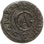 Szeląg / Solidus - Gustaw II Adolf (Occupation suédoise) – avers