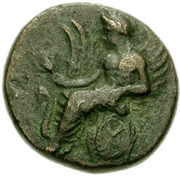 Bronze Æ15 (Eleusis) – avers