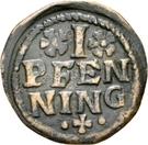1 Pfennig - Johann Jakob Blarer von Watensee – revers