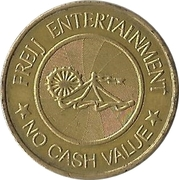 Amusement token - Freij Entertainment (smaller inner circle, golden) – avers