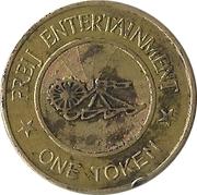 Amusement token - Freij Entertainment (smaller inner circle, golden) – revers