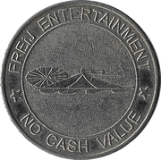 Amusement token - Freij Entertainment (bigger inner circle, silver, without website) – avers