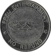 Amusement token - Freij Entertainment (bigger inner circle, silver, without website) – revers