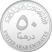 50 Dirhams - Khalifa (AFC) – revers