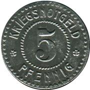 5 pfennig - Emmendingen – revers