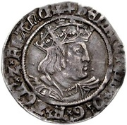 1 Groat - Henry VIII (2nd coinage) -  avers