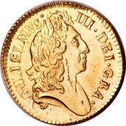 ½ Guinea - William III (late harp) – avers