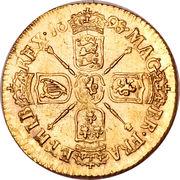 ½ Guinea - William III (late harp) – revers