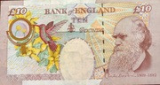 10 Pounds Bank of England 2000 – revers