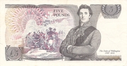 5 Pounds - Queen Elizabeth (Duke of Wellington) – revers