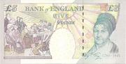 5 Pounds - Queen Elizabeth II (Elizabeth Fry) – revers