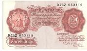 10 Shillings (Britannia, thread) – avers