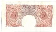 10 Shillings (Britannia, thread) – revers