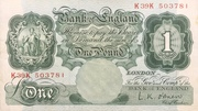 1 Pound (Britannia, thread) – avers