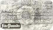 Shrewsbury Bank Five Pounds – avers