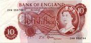 10 Shillings (Portrait Series) – avers