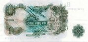 One Pound - H.M The Queen Portrait Type Series C - Green – revers