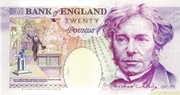 20 Pounds (Faraday, two denominations) – revers