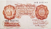 10 Shillings (Britannia, no thread) – avers
