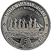 5 Ecu (SS Great Britain) – revers
