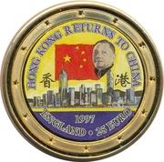 25 Euro - Elizabeth II (Hong Kong returns to China) – revers