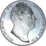 1 Crown - William IV (Three Graces) – avers