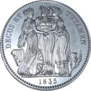 1 Crown - William IV (Three Graces) – revers