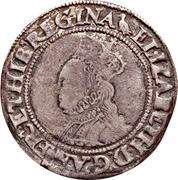 1 Shilling - Elizabeth I -  avers