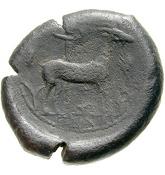 Æ Drachm (Enna) – revers