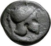 Bronze Æ20 (Campanian mercenaries) – avers