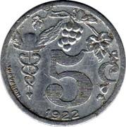 5 centimes - Union des commerçants détaillants - Epernay [51] – revers