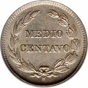 ½ centavo – revers