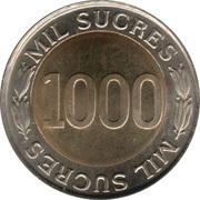 1000 sucres (Banque centrale) -  revers