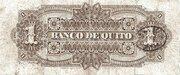 Un Peso - Banco de Quito – revers