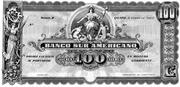 100 Sucres (Banco Sur Americano) – avers