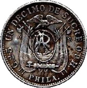 1 Décimo (Galapagos Counterstamp) – revers