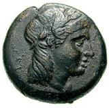 Bronze Æ14 (Eresos) – avers