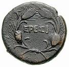 Bronze Æ14 (Eresos) – revers