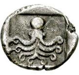 Hemidrachm (Eretria) – revers