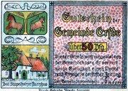 50 Pfennig (Erfde) – avers