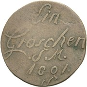 1 groschen Friedrich Carl Josef – revers