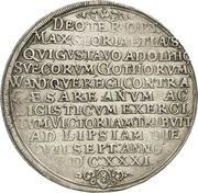 1 Thaler - Gustav Adolph II – revers