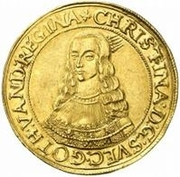 10 ducat Christina – avers