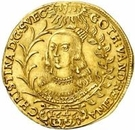 2 ducat Christina – avers